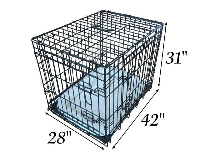 42 Inch Ellie Bo Deluxe Xl Dog Cage In Black Only Dog Cages Co Uk